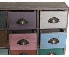 Piccola cassettiera Vintage legno di paulonia L38xPR10xH28 cm