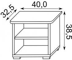 Como in legno per la cameretta bambini SZAFKA 10, 42cm x 32,5cm x 38,5cm altezza.