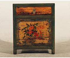 opium outlet Box Armadio Cinese Stile coloniale cassettiera Comodino Stile Vintage Shabby Chic Motivi Colorati, Design 3