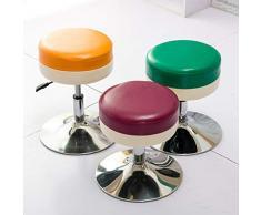 BYPING-Poggiapiedi Divano Comodino Multifunzione in Ecopelle Regolabile per Soggiorno, in Cotone, 6 Colori (Colore : A-Black, Dimensioni : 38x38x45.5CM)