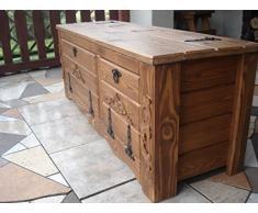 CSLTD IL3- Cassapanca mobiletto in legno di pino con scaffali per riporre le scarpe