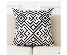 ufficio pratico comodino cuscini del divano vita Nordic semplici geometriche in bianco e nero cuscino cuscino in pelle scamosciata soggiorno cuscino divano cuscino dello schienale ufficio auto Dddlt- pillow and cushions ( colore : J. , dimensioni : M )