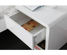 Miliboo - Comodino design laccato bianco ELIAH