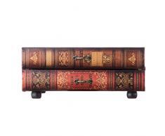 Rebecca Mobili Cassettiera da Tavolo, Cofanetto Libro 2 cassetti, Legno pu, Vintage, Marrone, organizzazione scrivania Trucchi - Misure 13 x 30 x 21 cm (HxLxP) - RE6276