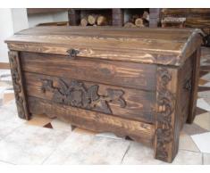 Decocraft Cassapanca in legno tavolino baule vintage in legno cassapanca (MON1)