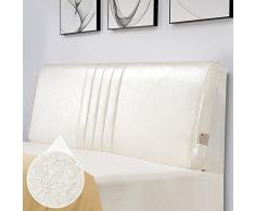 FLy Cuscino da Comodino in Pelle Tatami Cuscino Morbido Cuscino Fiore Cuscino Grande Schienale Cuscini da Comodino (Colore : 3#, Dimensioni : 150x10x60cm)