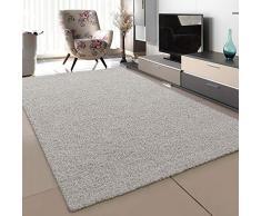 SANAT Tappeto per soggiorno crema, a pelo lungo, moderno, dimensioni: 120 x 170 cm