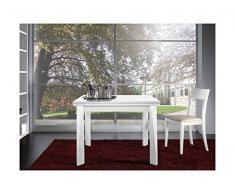 Arosio Bernardel - Tavolo quadrato allungabile a libro laccato bianco (ordinabile anche a multipli). VERO LEGNO, cm 100 x 100/200, Ciliegio
