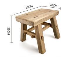 Sgabelli Sgabello quadrato in legno massello stile retrò vintage, sgabello salotto, sgabello da pranzo, tavolo e sgabello, sgabelli per casa, poggiapiedi, sgabello per il tempo libero, sgabello per di