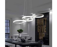 Lampada a sospensione Simboli musicali Design LED Lampadario Bianco/Lampada a sospensione in acrilico e alluminio sala da pranzo, soggiorno; Cucina, [classe energetica A ++] (Colore : White light)