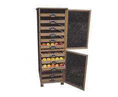 Dispensa per frutta e verdura, due piani con maniglie in metallo Masy 240