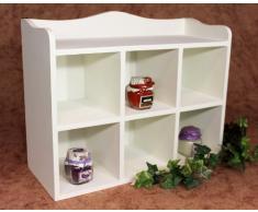 Cassettiera Scaffale a parete 12020 Scaffale 40cm Vintage Shabby stile country Scaffale da cucina bianco
