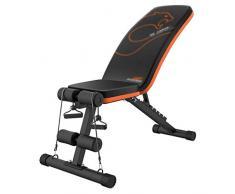 Pieghevole AB Sit Up Banco Banco romana Chair fitness, panca pesi con manubri Sgabello Full Body Workout Panca inclinata Sit Up stuoia del rilievo, nero banco di allenamento regolabile con coulisse