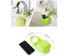 EQLEF® Spugna Storage Box rack carrello Wash Cloth igienici sapone Mensola Organizzatore Cucina Bagno Gadget Sink Shelving Bag