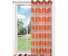 Splendid Collezione Florence - Tenda con Occhielli, 140 x 245 cm, Colore Arancione