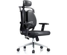 HYL Sedie per cucina Scrivania sedia esecutiva sedia da ufficio girevole schienale alto sedia PU poltrona in pelle del computer slitta Sedia di gioco responsabile sedile di lavoro in rete sedia del gi