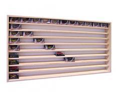 Vetrina (V10) per modellismo in legno di betulla, con 2 vetri di plexiglas, Dimensioni 100 x 55 x 7,5 cm, vetrinetta, bacheca, espositore, collezionismo