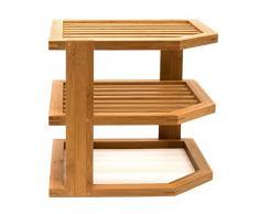 Taylor & Brown® Scaffale in bambù, a 3 ripiani, per angolo cucina come scolapiatti, armadietto per organizzare bagno e scrivania, ottimo come idea salvaspazio