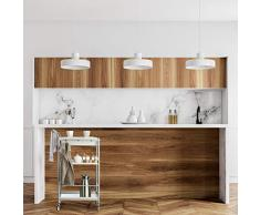 Relaxdays Carrello Cucina, Acciaio, Cassetto Estraibile, Ruote Girevoli a 360°, Mobile HxLxP: 95x56x38 cm, Grigio/Bianco, Metallo, plastica