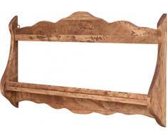 Piattaia Country in legno massello di tiglio finitura naturale 84x11x43 cm