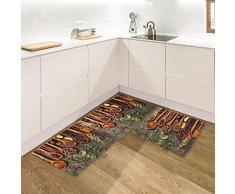 IlGruppone Set di 2 tappeti da Cucina Antiscivolo e Lavabili passatoia Cucina,Ingresso,Camera - Una Volta