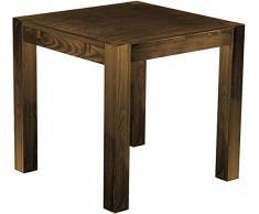 Brasil mobili sala da pranzo tavolo Rio, in legno di pino massiccio, oliata e cerata, L/B/H: 80 x 78 cm, smaltata, diversi esigenti, Legno, Rovere antico, L/B/H: 80 x 80 x 77 cm