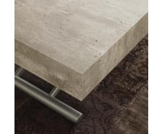 La Seggiola Tavolino trasformabile allungabile - K2, Piano Cemento, Gambe Alluminio (Art. Block)