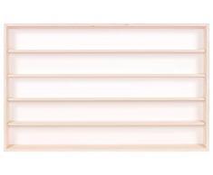 Alsino V120.5 Vetrina espositiva   120 x 49 x 8,5 cm   in Legno di Betulla Non trattato   5 Ripiani   2 Ante plexiglass scorrevoli   Modellismo   Collezionismo   Scala N e H0
