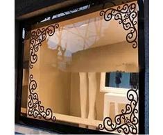 Vetrina Glass Window Angolo Background Decorazione Rimovibili Specchio Adesivi Vetrofanie