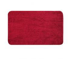 MIULEE Tappetino da Bagno 1 Pezzi Assorbente Antiscivolo con Tappeti ad Alta Idroscopicità in Microfibra Morbido per Camera da Letto Cucina Ingresso 60X90 CM Rosso