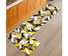 Ommda Tappeti Cucina Lavabile Antiscivolo Moderno Geometria Stampa Tappeto da Cucina Gommato 6mm 60x180cm