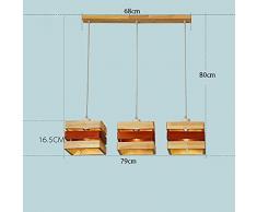 Jack Mall Lampadari coreani creativi in legno in stile nordico, lampadari per sala da pranzo ( Colore : 3 head (large) )