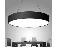 XMZ Soffitto moderni lampadari di luce Luce per soggiorno, sala da pranzo,corridoio,LedAluminum7.5cm, scatola nera 50cm