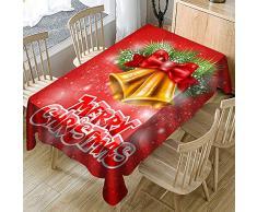 Vovotrade ❤ Bar Christmas Party Printed Tovaglia Exquisite Artigianato Rectangle Tavolo da Pranzo Durevole