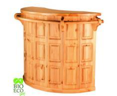 Bioecoshop Bancone Bar In Legno Di Pino Svedese Massello Mis 150X60 Cm Altezza 100 Cm Made In Italy