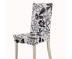 Teerfu, Fodera per sedia, 4 pezzi, protezione elasticizzata rimovibile, in spandex, fodera per sedie ultra aderente, ideale per hotel e cerimonie nuziali, lavabile Color 16