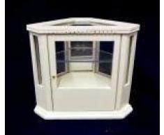 Mobili in Miniatura per Case delle Bambole Legno Bianco Angolo Vetrina Bancone 5445