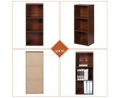 Bookshelf SESO UK- Armadi da appoggio per pavimenti di moda 3 Libreria Libreria a piani racchiusi Vetrina d'angolo