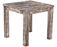 Brasil mobili tavolo da pranzo 'Rio classico' 80 x 80 cm, in legno massello di pino, tonalità in stile antico