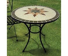 Tavolo a mosaico acquista tavoli a mosaico online su livingo for Tavolo rotondo mosaico