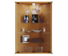 VCM tinosa vetrina angolare, imitazione struttura legno, bianco/nero, taglia unica