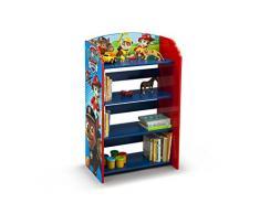 Delta Children Paw Patrol Libreria Bambino, Legno, Blu, 50.17x26.03x83.23 cm