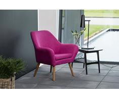 AC Design Furniture 58884 lounge sedia Lulu, tessuto magenta