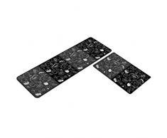 WEICHUAN - Tappeto da cucina antiscivolo, set di 2 tappeti da cucina, assorbente, morbido per lavello, moderno tappeto da pavimento per uisina # 6 (40 x 60 + 40 x 120 cm)