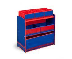 Delta Children Portagiocatolli con 6 scatole, Legno, Rosso, 63.50x29.85x66.04 cm