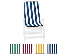 Cuscino copri sedia UNIVERSALE morbido seduta poltrona sdraio tessuto cotone per piscina mare giardino mod.IBIZA FASCIATO VERDE