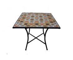 Galileo Casa Tavolo Quadrato, Ferro/Cemento, Multicolore