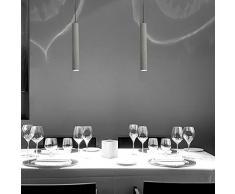 W-brillight – Lampada a sospensione Lampade Cemento industriale lampadario di illuminazione regolabile in altezza per Lounge Ristoranti Bars corridoi cameretta tetto 3W LED A6 (Lampadina inclusa)