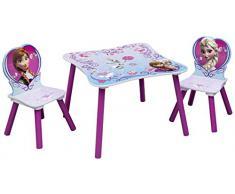 Disney Frozen Set Tavolino e 2 Sedie in legno