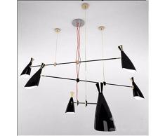 Gowe moderno minimalista moda pasti lampadari, luci sala da pranzo, Bar lampada, scale lights-6 Capi corpo colore: nero